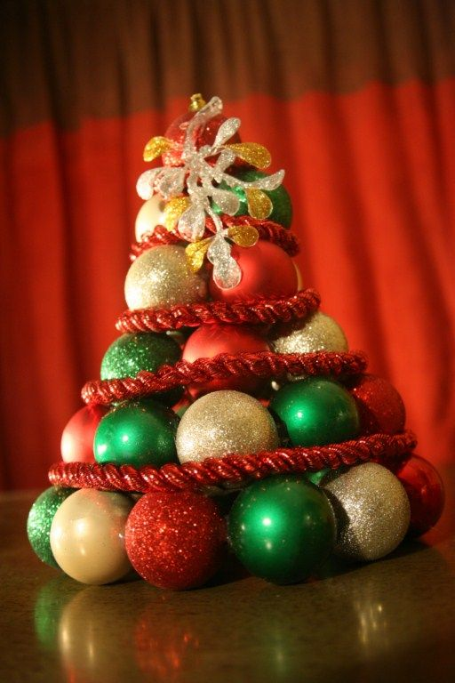 Ornaments (I used 3 packs of 8), $3      Garland (Rope), $1      Large Ornament (to add some pizzazz!), $1      Glue gun and glue sticks, on hand      Scissors      Bowl or circular shape to use as a guideline for the base or your tree    Total: $5