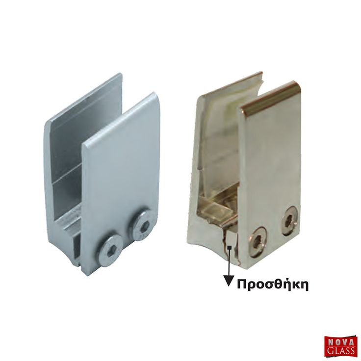 Στήριγμα διαιρούμενο για κρύσταλλο 10 mm Κωδ. 3316   Nova Glass e-shop