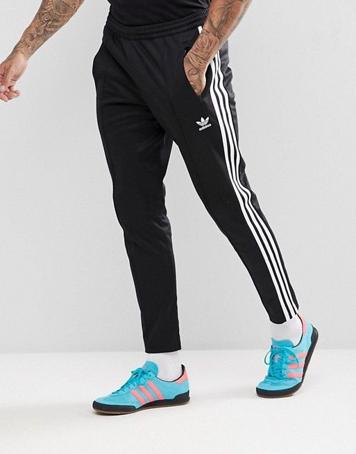 new product 89a2d 1d961 adidas Originals adicolor Beckenbauer Joggers In Skinny Fit In Black See  more  IllumiLondon