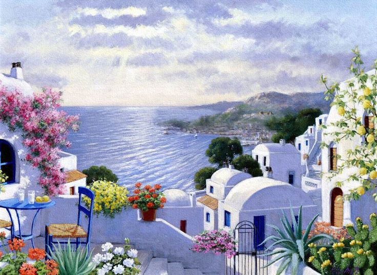 Peter Motz. Santorini Morning, how delicious is this?
