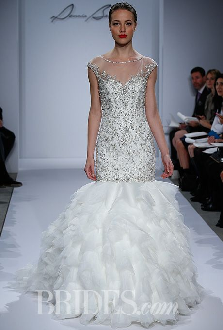 Dennis basso for kleinfeld spring 2014 sleeve wedding for Kleinfeld wedding dresses with sleeves