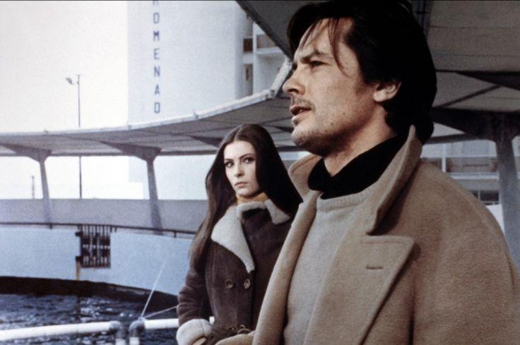 Alain Delon and Sonia Petrovna in La prima notte di quiete (1972)