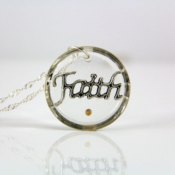 Faith Necklace, Mustard Seed Necklace, Christian Jewelry, Scripture Jewelry,Dainty Necklace, Bible Verse Jewelry, Inspirational Necklace