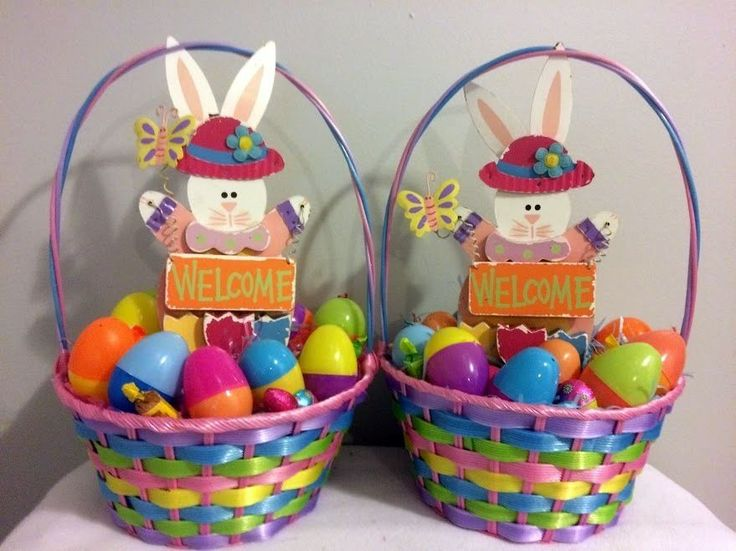 3527 best all ebay items images on pinterest wine gifts 15each ebay multi colored spring welcome easter bunny gift basket 2 negle Images