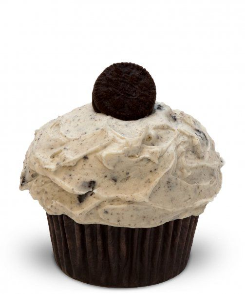 trophy cookies and cream cupcake