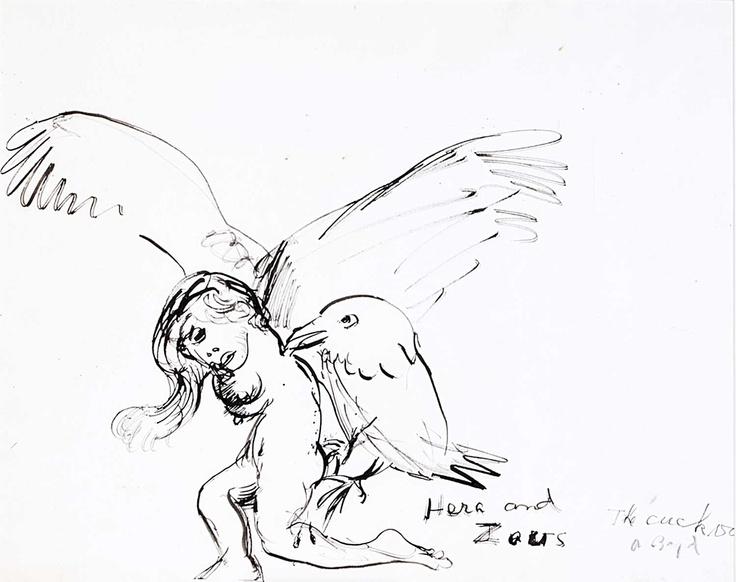 Arthur Boyd - The Cuckoo 1994. ink