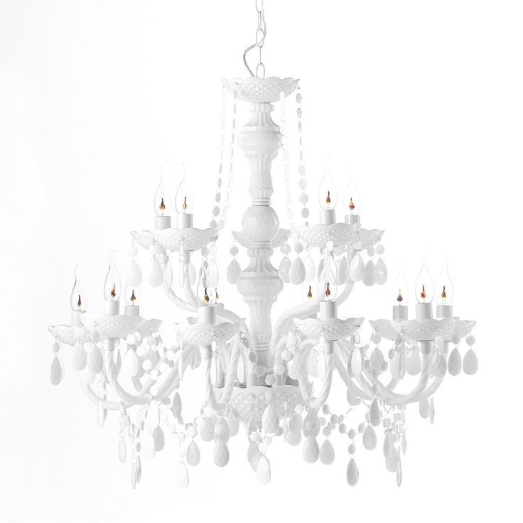 FEUDAL WEISS 15 ARM DESIGN KRONLEUCHTER By Roomproducts: Amazon.de:  Beleuchtung