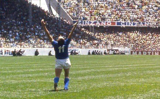 Gigi Riva, gol al Messico ai mondiali del 1970