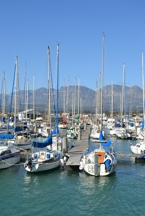 Yachts Docked at Bay Harbour, Cape Town Location.