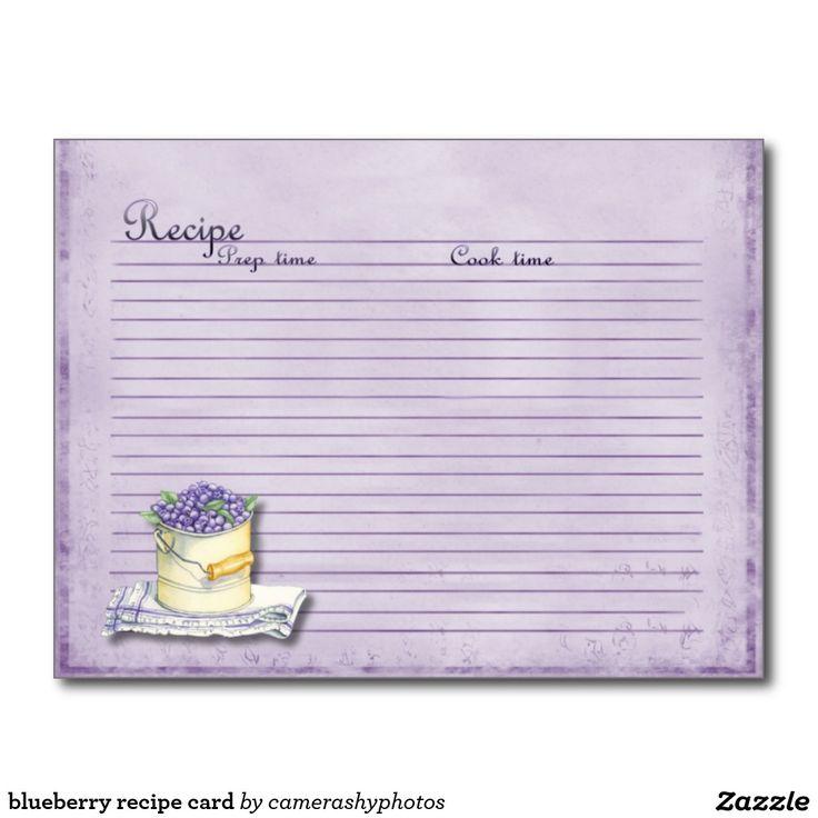 Blueberry Recipe Card
