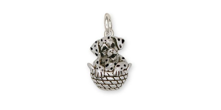 Dalmatian Dog Charm Jewelry Sterling Silver Dalmatian Dog Charms And Dalmatian Dog Jewelry DM4-C. This is hand made when ordered. 30 Day Money Back Guarantee.