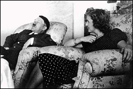 Eva Braun with Hitler.