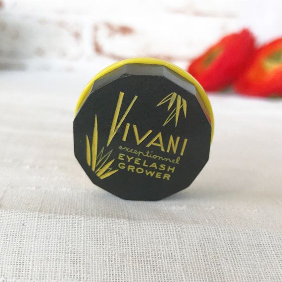 Antique Art Deco Vivani Canister Box Vintage advertising Eyelash Grower round beauty jar Black Yellow Beauty products cosmetics by WonderCabinetArts
