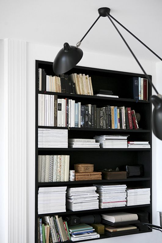 black shelves + pendant | Trendenser.se