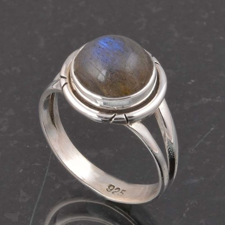 BLUE FIRE LABRADORITE 925 SOLID STERLING SILVER FASHION RING 3.80g DJR6381 #Handmade #Ring