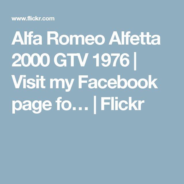 Alfa Romeo Alfetta 2000 GTV 1976 (With Images)