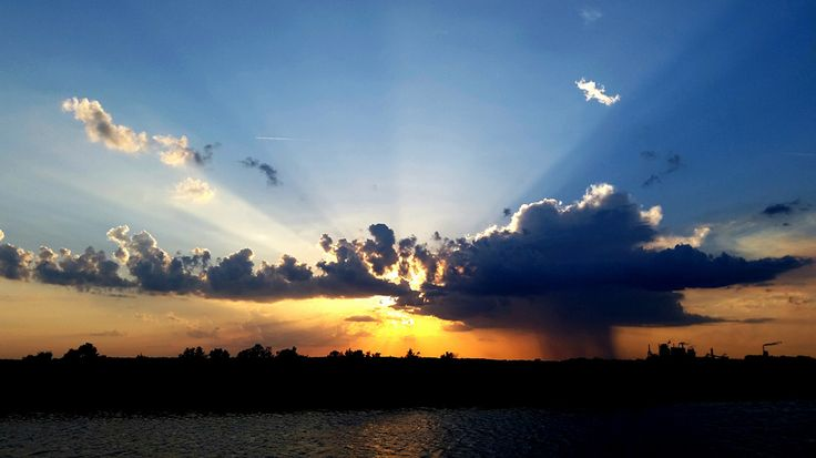 A Sunset over Brunswick, Georgia, US.