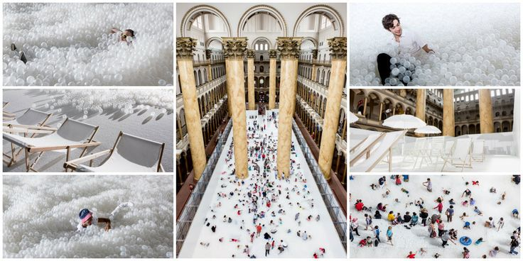 This is kind of cool...check out Snarkitecture's indoor beach made from plastic balls: