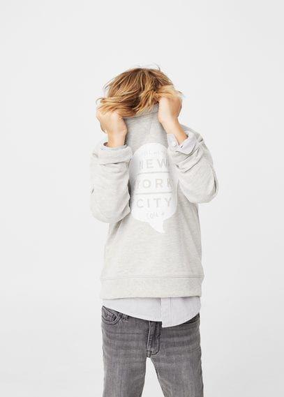 Bedrukt pluche sweatshirt