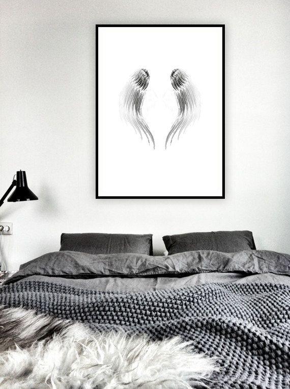 Angel Wings Poster / Angel Wings Printable Poster / di AYAKAstudio
