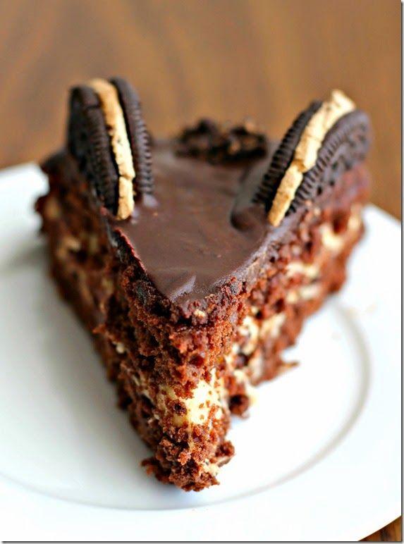 Τούρτα σοκολάτας με μπισκοτένια γέμιση & ganache σοκολάτας με oreo