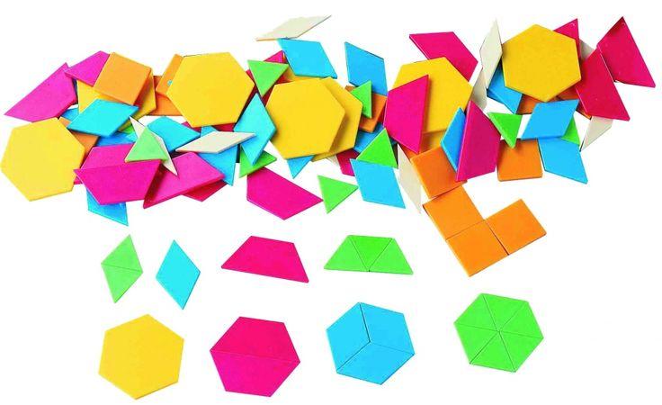 Folosindu-si imaginatia, elevii pot alcatui diferite forme, animale sau modele abstracte. Este un material didactic preferat de elevii din tarile Uniunii Europene. Setul contine 250 bucati, in 6 culori diferite, cu grosimea de 3 mm. Formele sunt de marimi si culori diferite.
