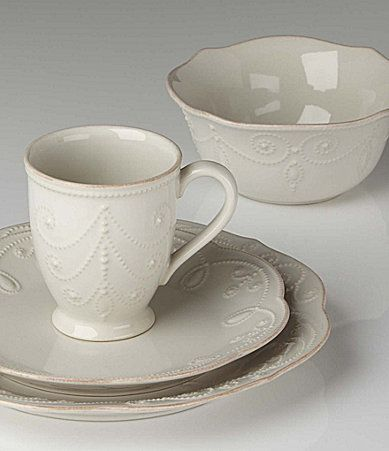I'm such a plain person, but I love this. Lenox French Perle White Dinnerware