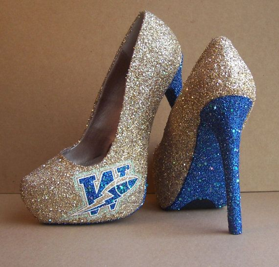 Winnipeg Blue Bombers High Heels by Tattooed Mary on Etsy, $120.00 Too bad the bombers aren't doing well this year once again though.