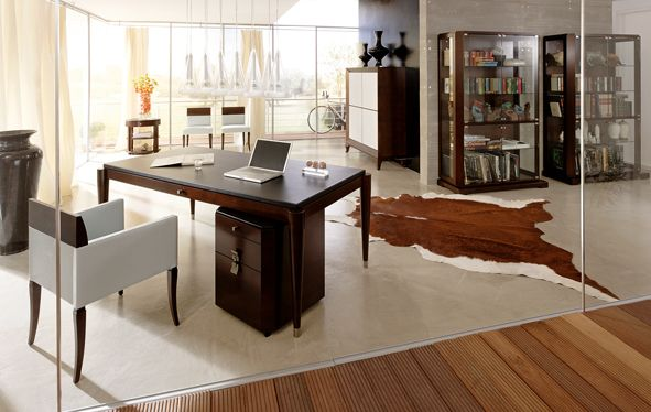 Home Office DOWNTOWN designed by Lorenzo Bellini  #SELVA #furniture #homeoffice #desk