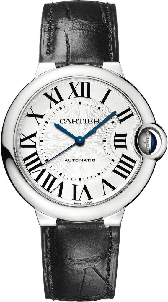 Ballon Bleu de Cartier watch36 mm, steel, leather