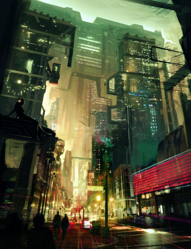 Image result for fantasy pictures of dystopian city