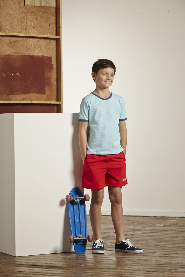 Just Jack navy boardshorts and v-neck T
