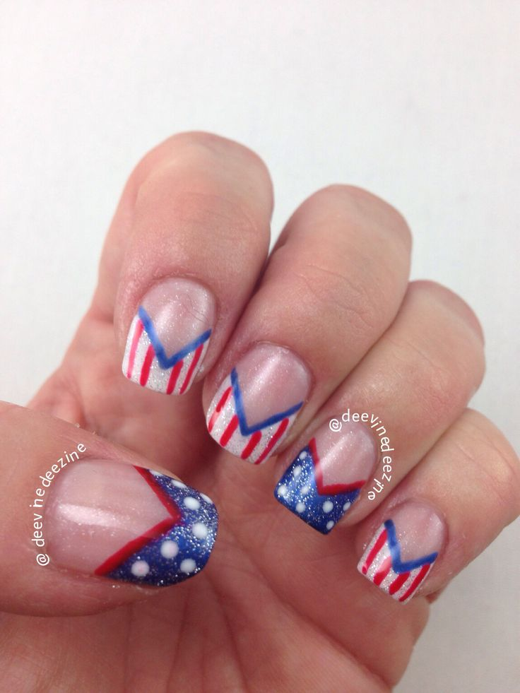 plaid French manicure | FRENCH TIP NAIL ART | Pinterest | Manicure