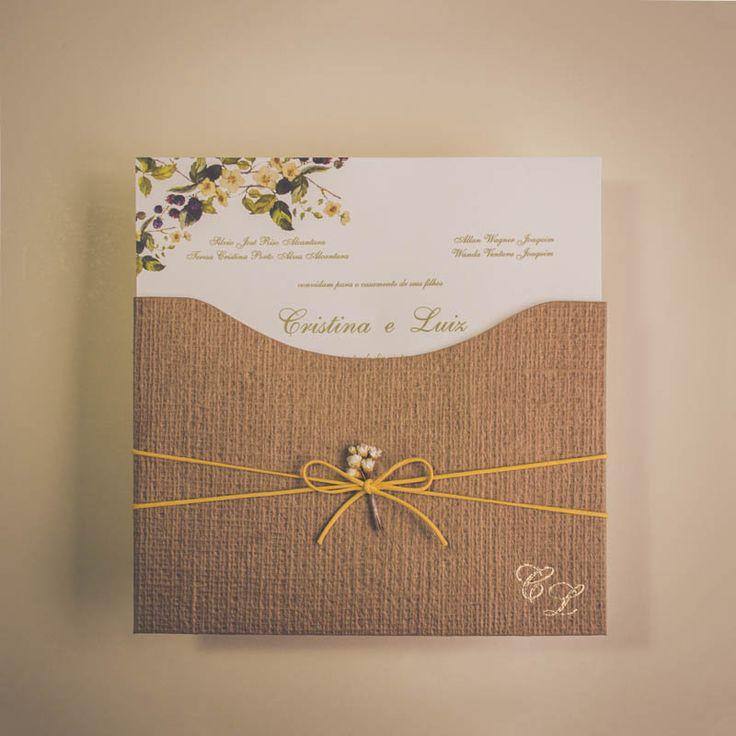 Convite de casamento Campo - Luiz