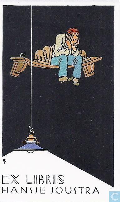 Ex-Libris BD et tirages - Swarte, Joost - VERKEERDE RUBRIEK --> EX LIBRIS VOOR BOEKEN Ex libris Hansje Joustra