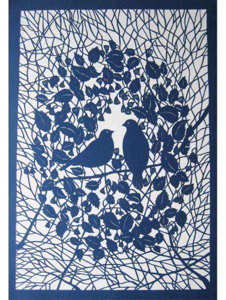 Embroidery & paper cut - Millie Marotta