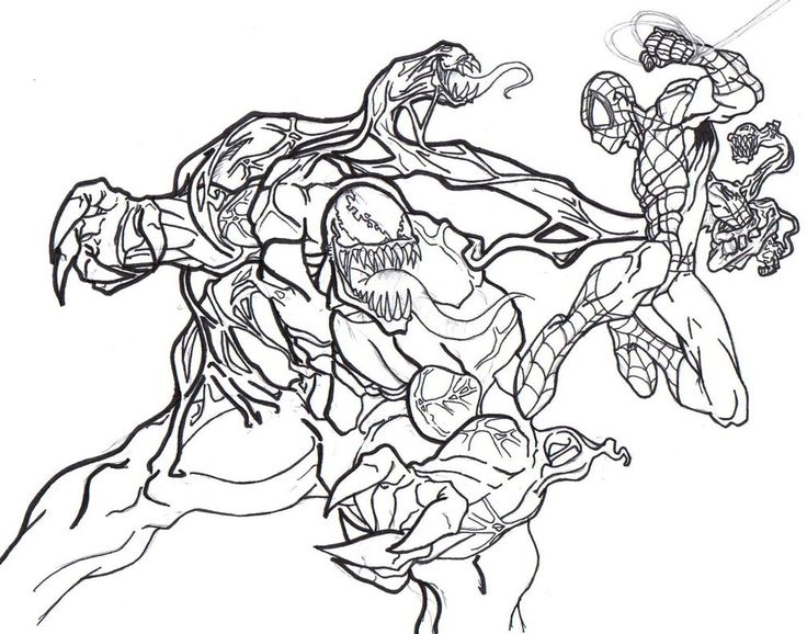 Venom Coloring Pages Spiderman coloring, Cartoon
