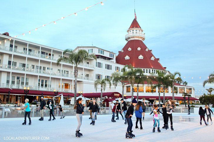 Hotel Del Coronado Ice Skating By the Sea.