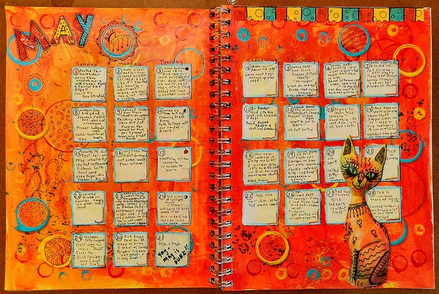 Art Journal Calendar Pages : Best teesha moore images on pinterest art journaling