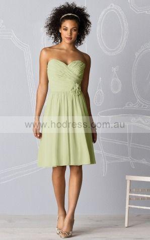 Sleeveless Zipper Sweetheart Knee-length Chiffon Formal Dresses b140452--Hodress