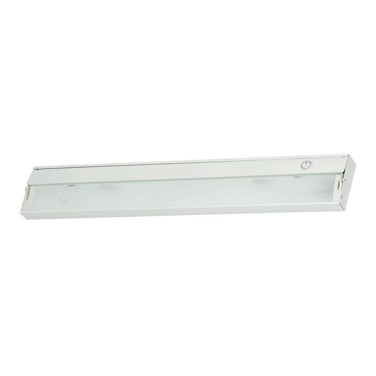 Alico Zeeline 3 Lamp Xenon Cabinet Light In White With Diffused Glass