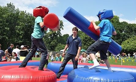 #inflatable #boxing #partyideas #outdoor #sharkyandgeorge