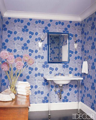 17 Best Ideas About Blue Powder Rooms On Pinterest