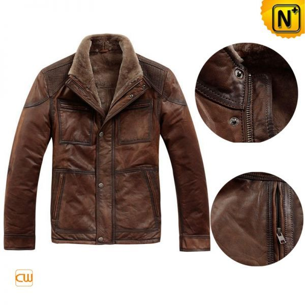 brown leather jacket mens -