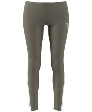 adidas Originals Three-Stripe Leggings - Tan/Beige 2XS
