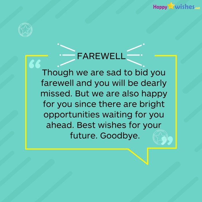 best wishes for your future good bye senior  farewell
