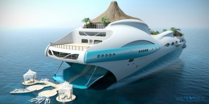 Yacht Island - Luxury Boat Concept