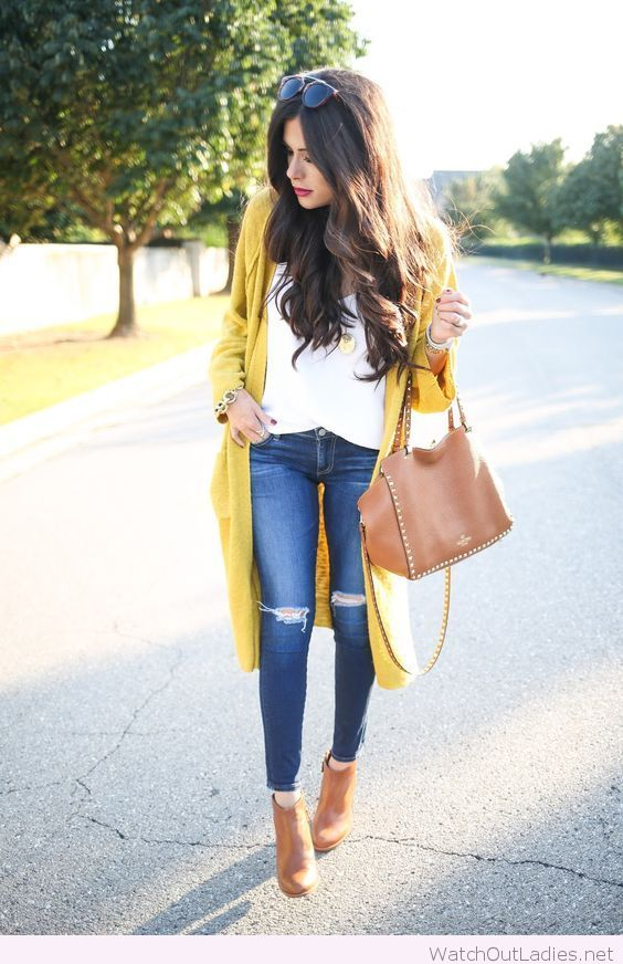 fantastic yellow cardigan outfit ideas 2017