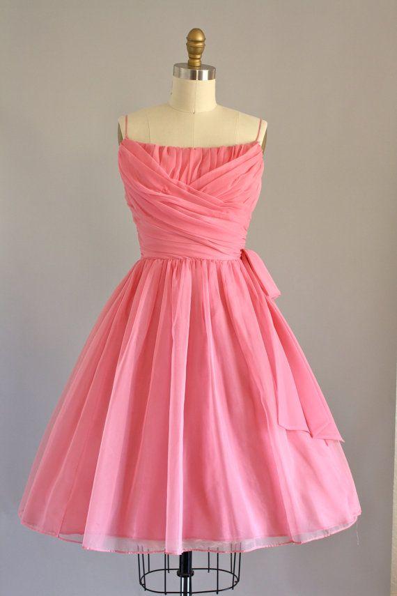 Lorrie Deb Bubblegum Pink Party Dress w/ Ruching