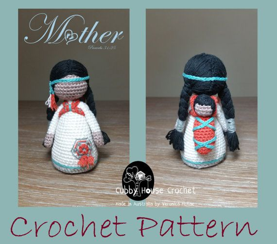 Crochet Pattern Package. Mother NOVA with baby LALLO and child